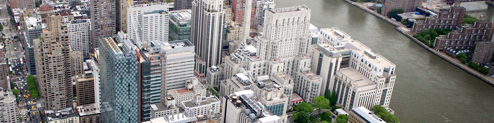 Aerial view of Weill Cornell Medicine's Upper East Side location.