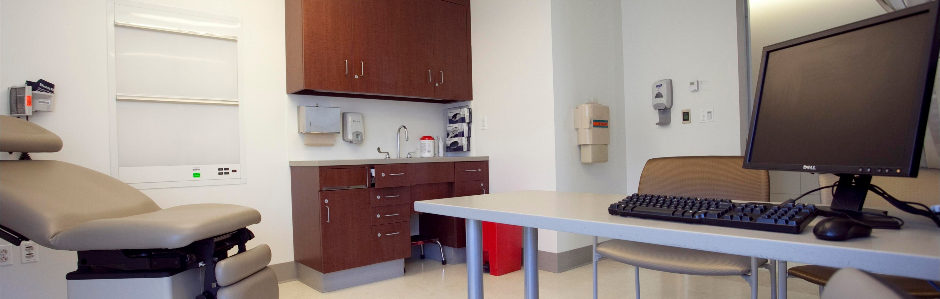 Exam room in the Kidney Transplant clinic