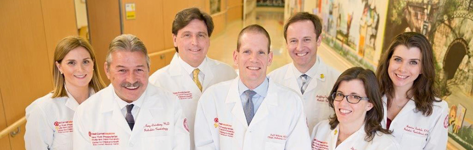 Group photo of Pediatric Cardiology physicians from Weill Cornell Medicine