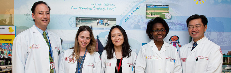 Group photo of pediatric critical care specialists at Weill Cornell Medicine.