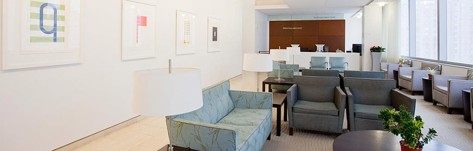 Waiting room for one of Ophthalmology's locations