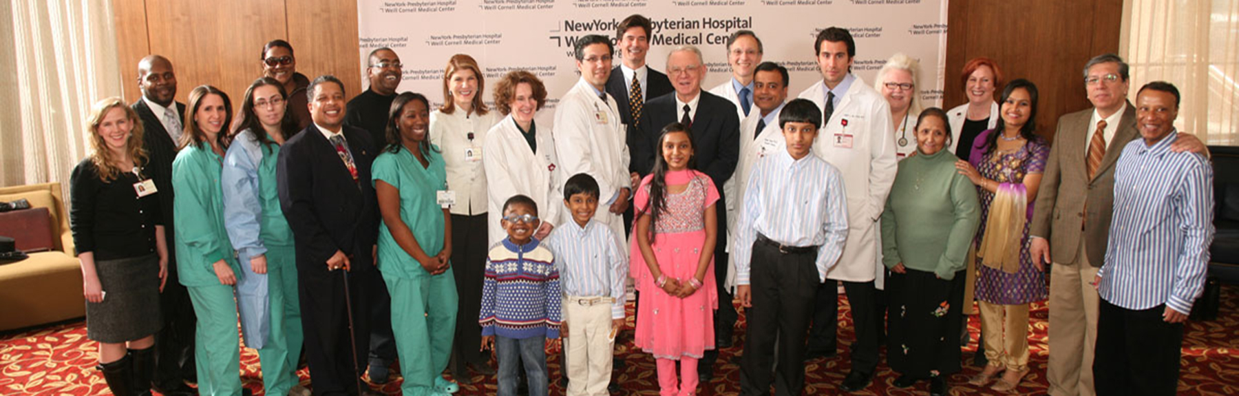 Group photo of the patients involved in an early donor exchange