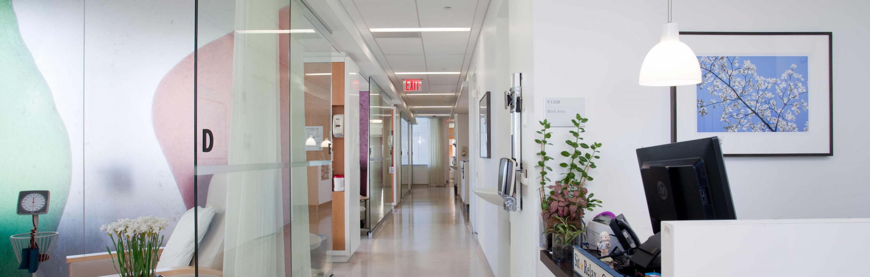 View of GI Oncology clinical space