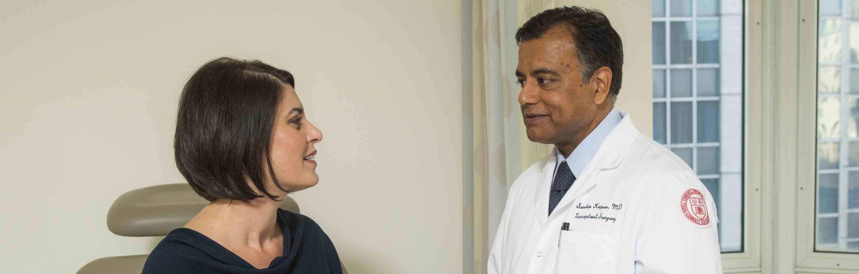 Weill Cornell Medicine's Dr. Sandip Kapur talks to a patient