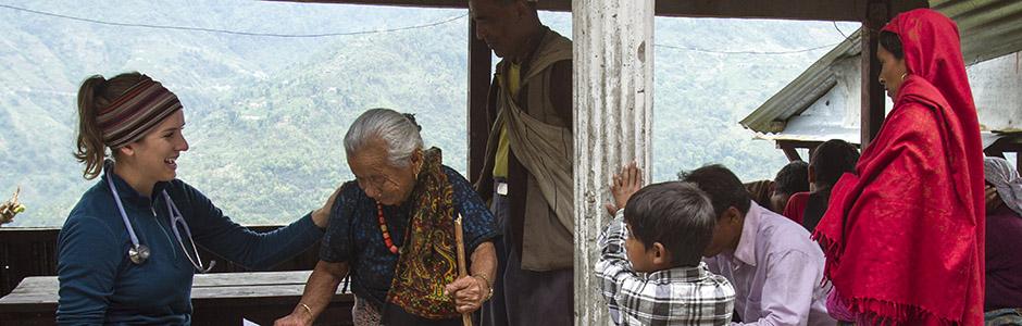 University of Utah PA students examine patients in a remote Nepalese village, Ghandruk, Nepal, 2015