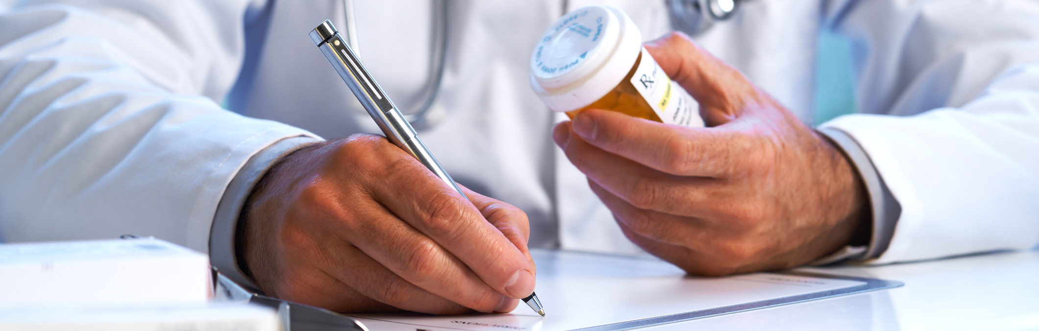 Doctor prescribing medication