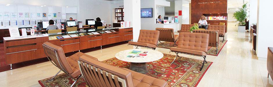 Myra Mahon Patient Resource Center interior