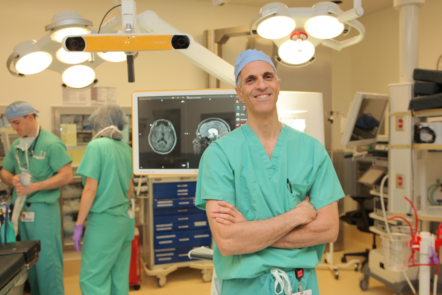 Dr. Mark Souweidane in operating room