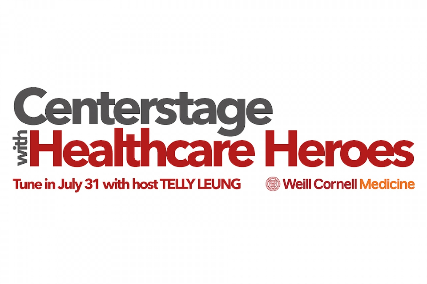 centerstage with healthcare heroes event