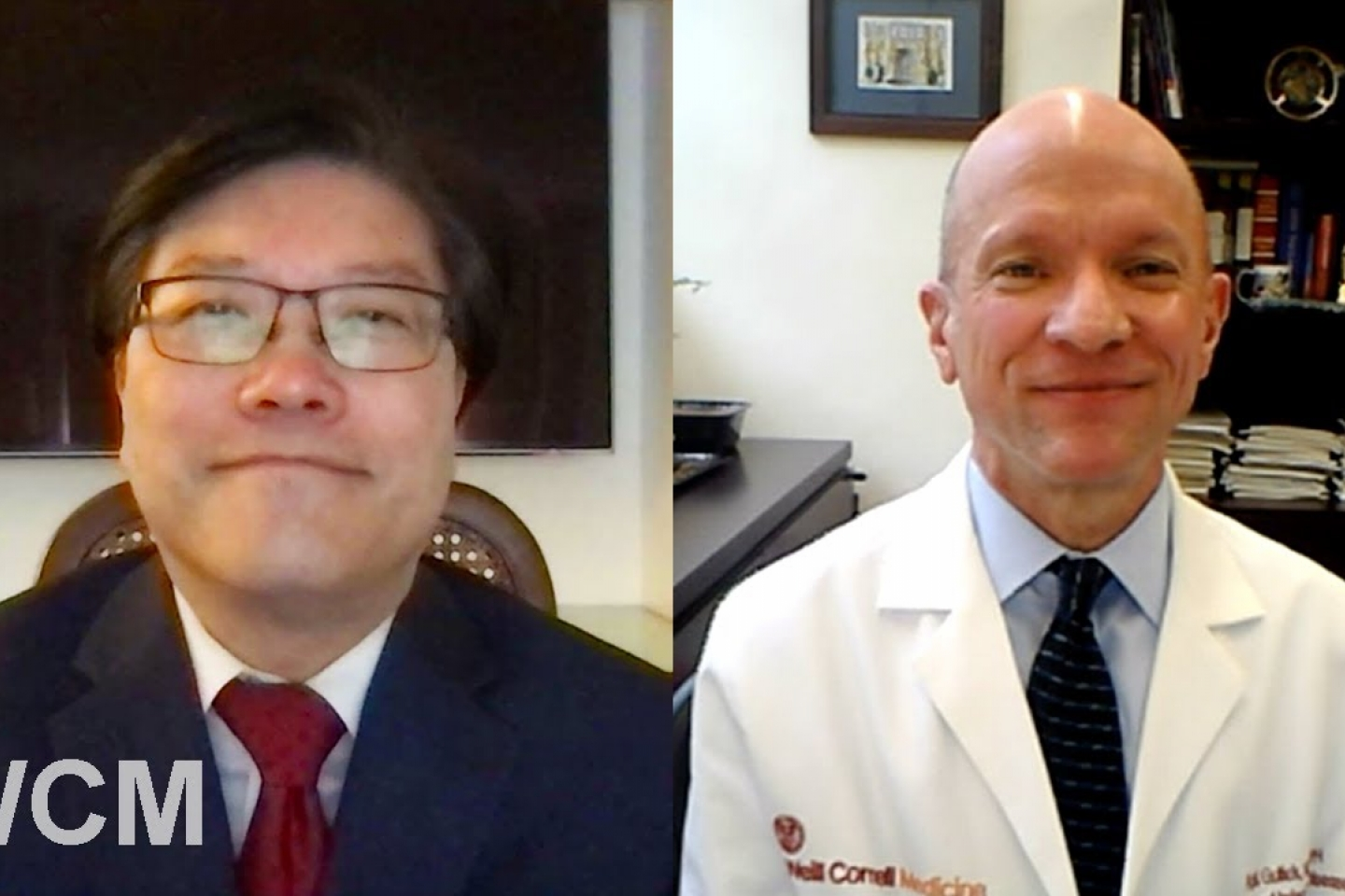 Dean Augustine M.K. Choi and Dr. Roy Gulick