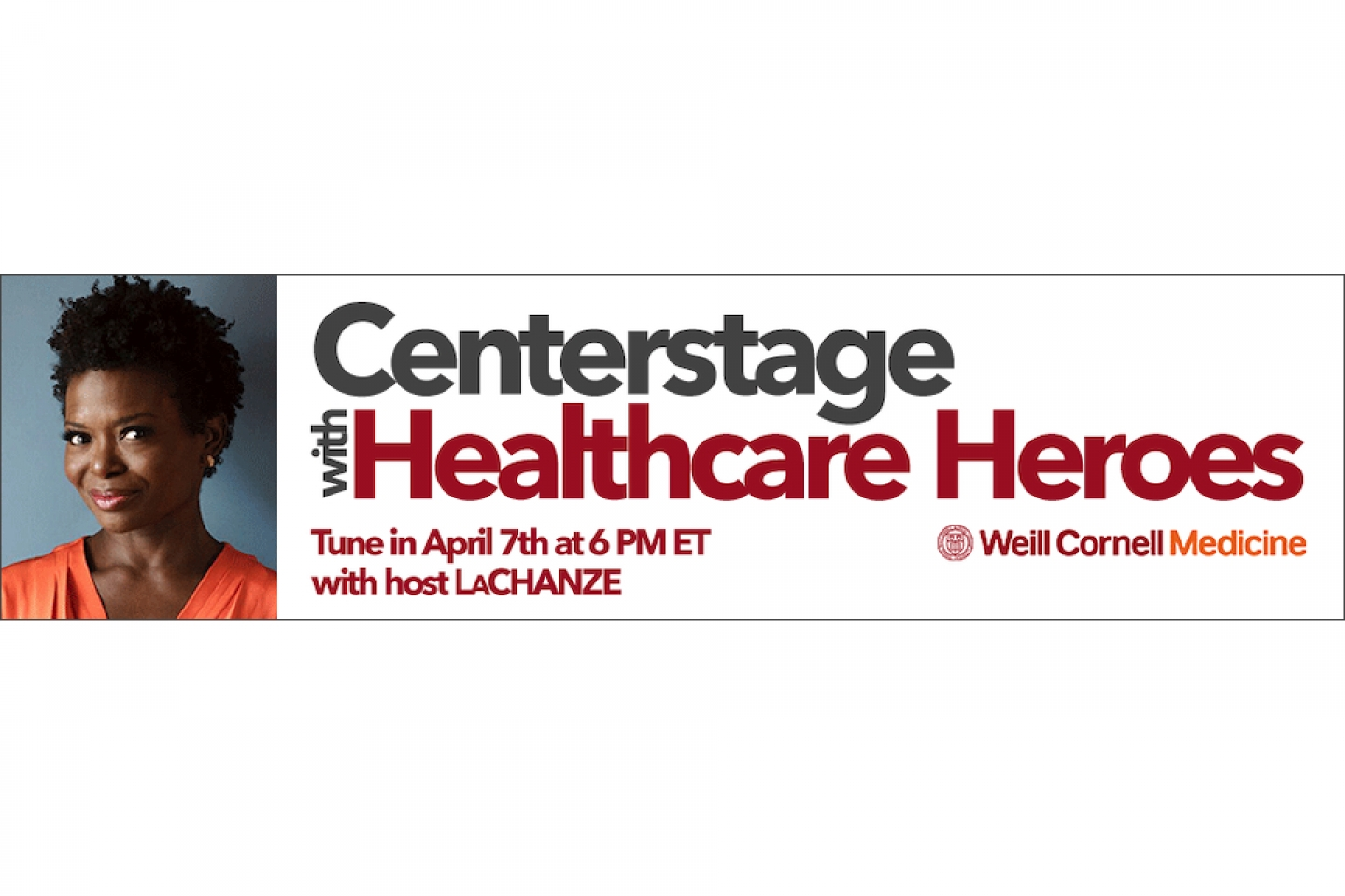 centerstage with healthcare heroes with LaChanze