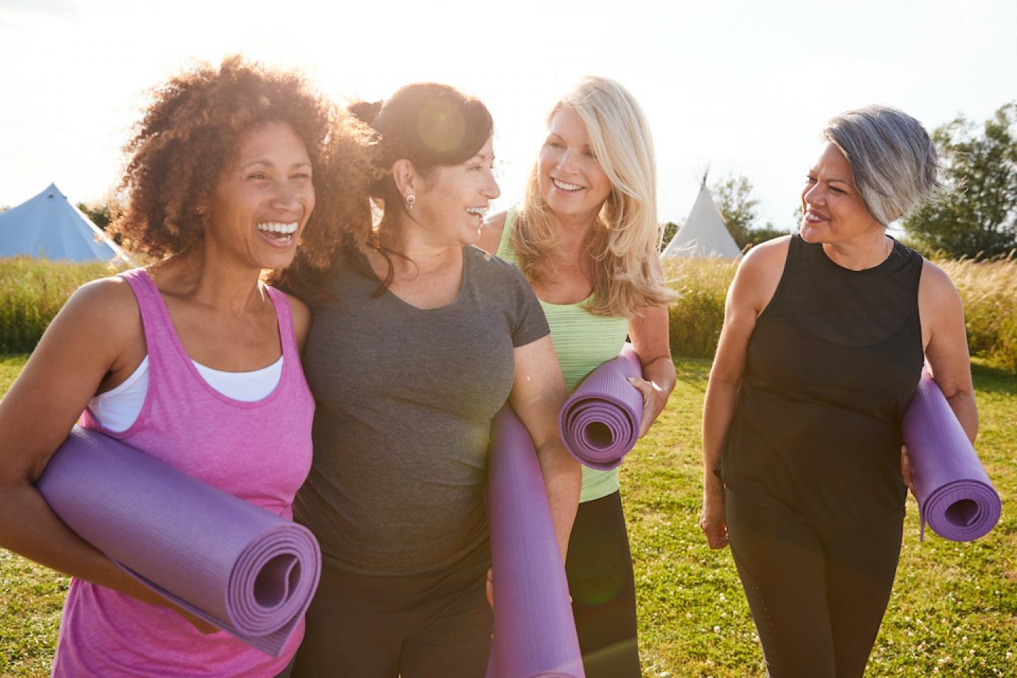 women exercising together