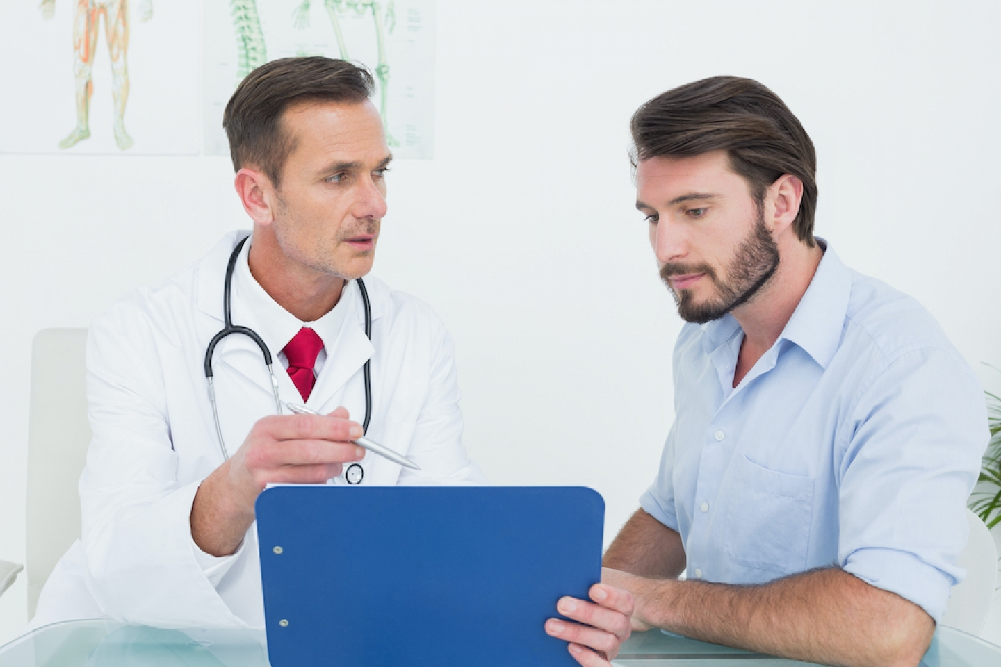 doctor meets with patient