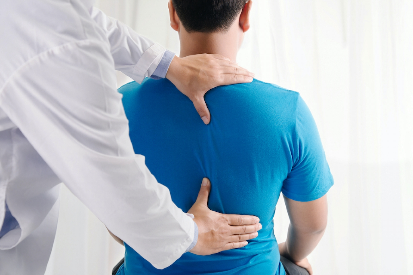 doctor and patient spine care