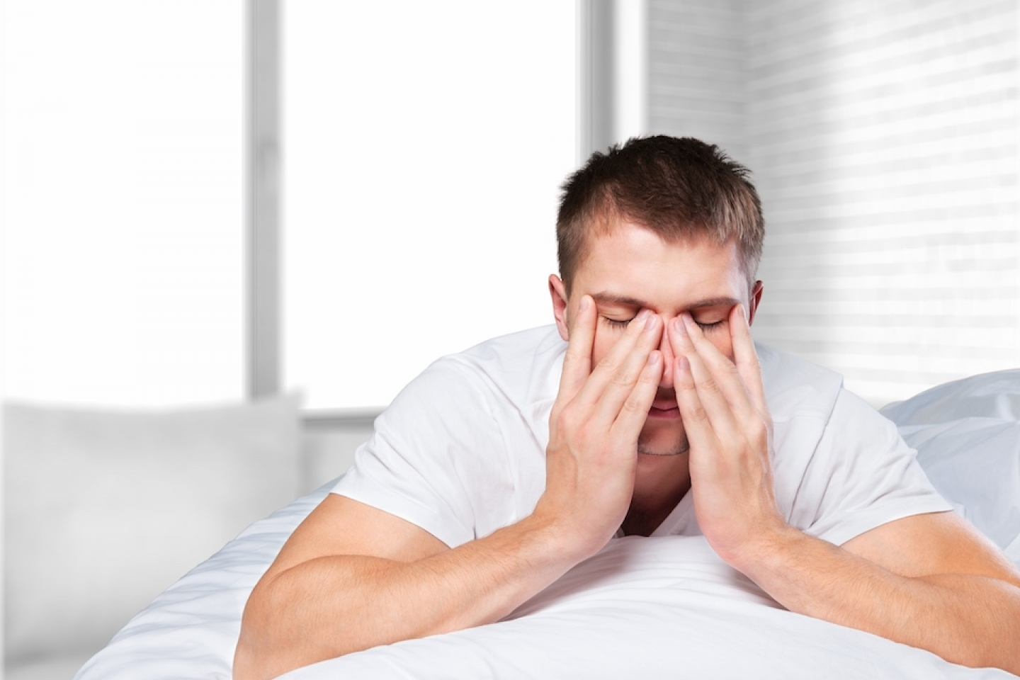 man with sleep issues
