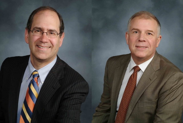 Headshots of Drs. Joel Stein and Michael O'Dell of Weill Cornell Medicine