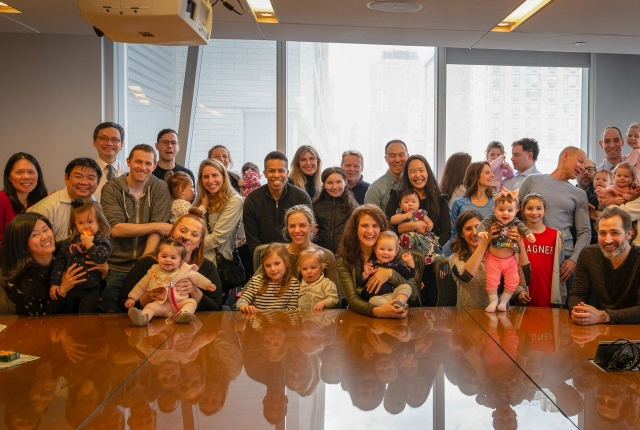 Weill Cornell Medicine's Dr. Pak Chung poses with the families he has helped.