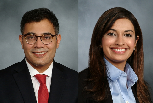 Composite of Drs. Jatin Joshi and Sadiah Siddiqui from Weill Cornell Medicine