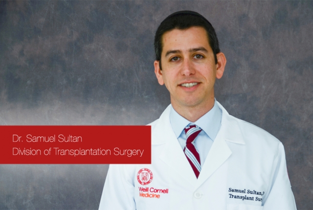 Portrait of Dr. Samuel Sultan from the Division of Transplantation Surgery