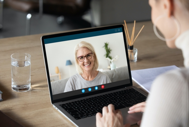 older woman video chat