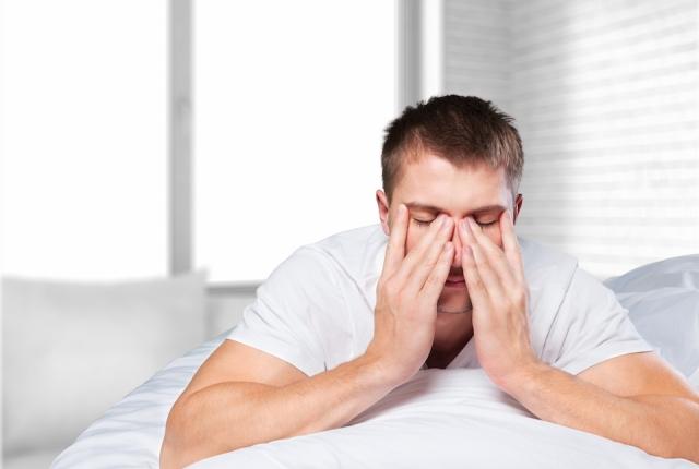 man with sleep issues