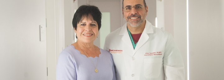 Dr. Patsalides and Roseanne Miller