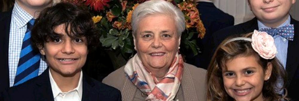 Photo of Domenica Devito with her grandchildren.