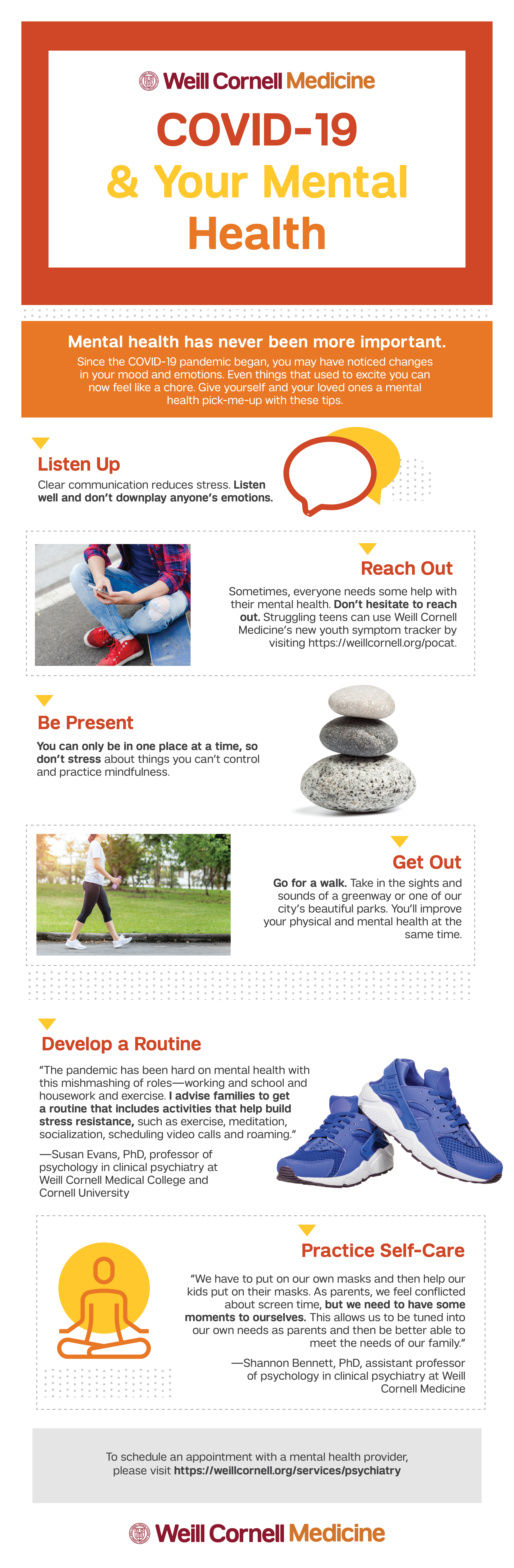 covid-19 and mental health infographic