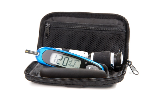 blood glucose meter used by patients with diabetes