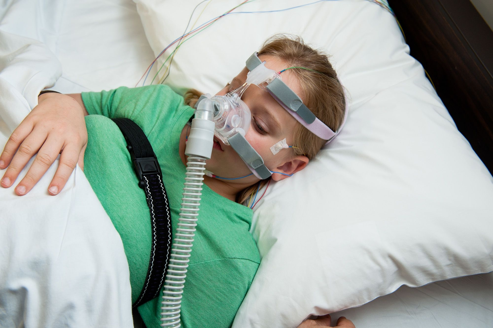 A Weill Cornell Medicine pediatric patient using a CPAP machine