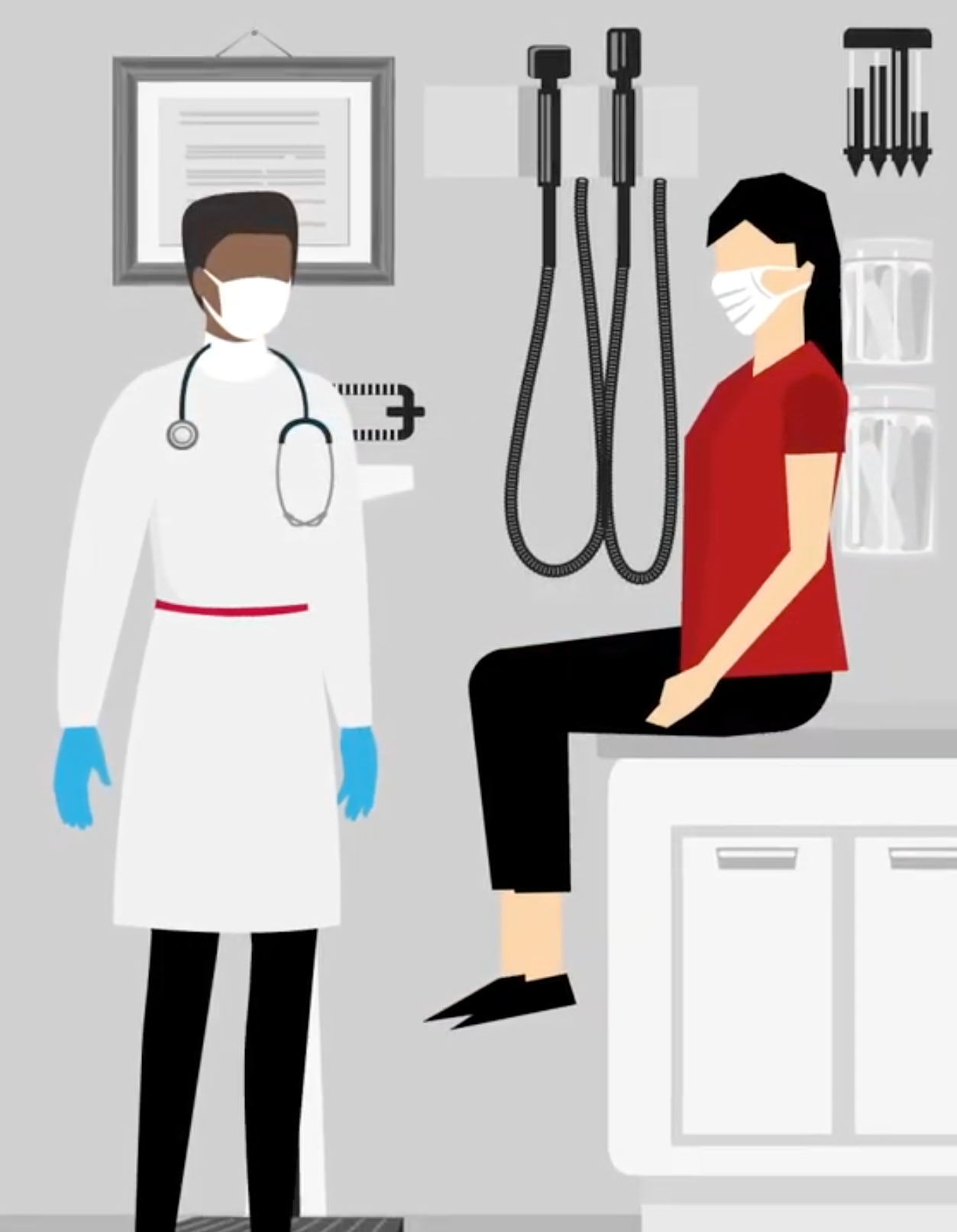 Image of a physician speaking with a patient