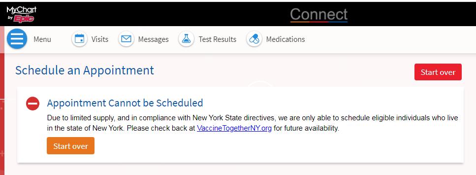 connect error message