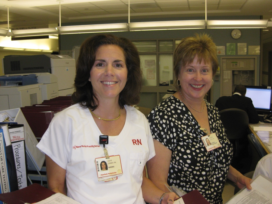 Photo of transplant nurses at NewYork-Presbyterian/Weill Cornell Medical Center