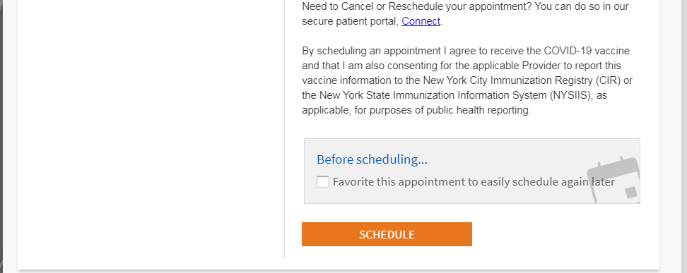 vaccine save appointment