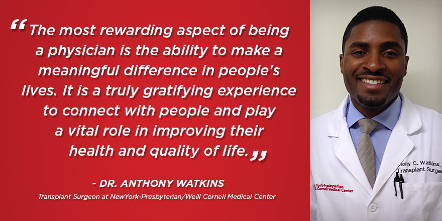Quote from Dr. Anthony Watkins, transplant surgeon
