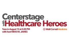 centerstage with healthcare heroes event banner