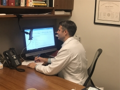 Primary Care physician performing a video visit