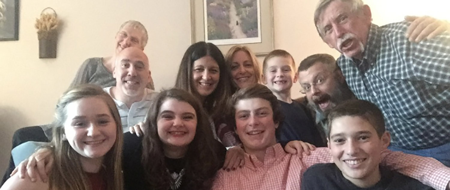 Family photo of Brian, a patient at Weill Cornell Medicine, and his family