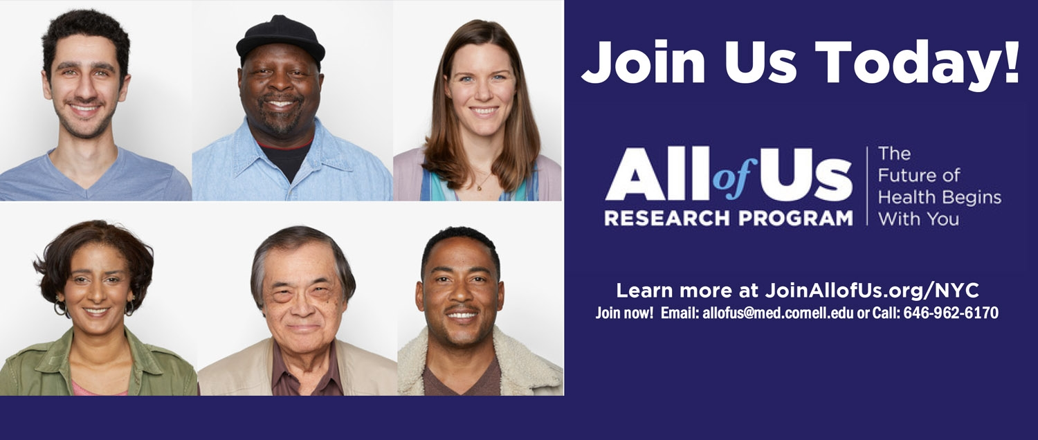 All of Us image encouraging the public to enroll in the research program.